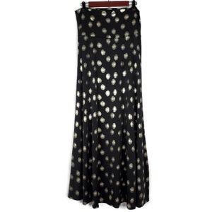 Lularoe Elegant Black Polka Dot Maxi Skirt